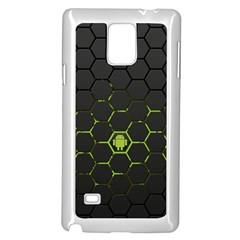 Green Android Honeycomb Gree Samsung Galaxy Note 4 Case (white) by Onesevenart