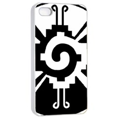 Maya Calendar Native American Religion Apple Iphone 4/4s Seamless Case (white) by Onesevenart