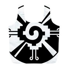 Maya Calendar Native American Religion Full Print Recycle Bags (l)  by Onesevenart