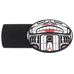 Ethnic Traditional Art Usb Flash Drive Oval (4 Gb) by Onesevenart