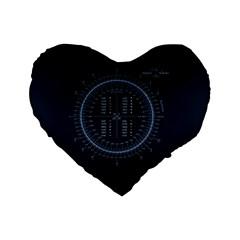 Minimalistic Knowledge Mathematics Trigonometry Standard 16  Premium Flano Heart Shape Cushions by Onesevenart