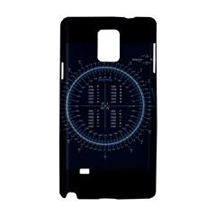 Minimalistic Knowledge Mathematics Trigonometry Samsung Galaxy Note 4 Hardshell Case by Onesevenart