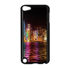 Light Water Cityscapes Night Multicolor Hong Kong Nightlights Apple iPod Touch 5 Case (Black) by Onesevenart