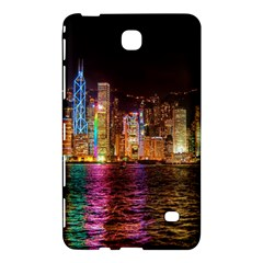 Light Water Cityscapes Night Multicolor Hong Kong Nightlights Samsung Galaxy Tab 4 (8 ) Hardshell Case  by Onesevenart