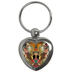 Hail Fine Art Print Key Chains (heart)  by Onesevenart