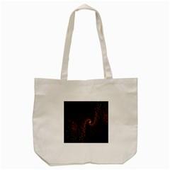 Multicolor Fractals Digital Art Design Tote Bag (cream) by Onesevenart