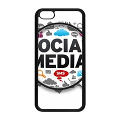 Social Media Computer Internet Typography Text Poster Apple iPhone 5C Seamless Case (Black) by Onesevenart