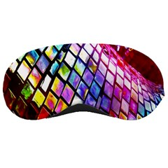 Multicolor Wall Mosaic Sleeping Masks by Onesevenart