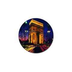 Paris Cityscapes Lights Multicolor France Golf Ball Marker (10 Pack) by Onesevenart
