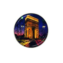 Paris Cityscapes Lights Multicolor France Hat Clip Ball Marker by Onesevenart