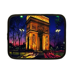Paris Cityscapes Lights Multicolor France Netbook Case (small)  by Onesevenart