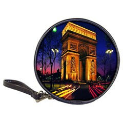 Paris Cityscapes Lights Multicolor France Classic 20 Cd Wallets by Onesevenart