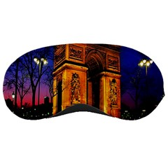 Paris Cityscapes Lights Multicolor France Sleeping Masks by Onesevenart