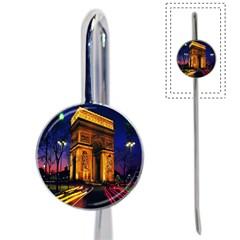 Paris Cityscapes Lights Multicolor France Book Mark by Onesevenart