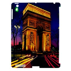 Paris Cityscapes Lights Multicolor France Apple Ipad 3/4 Hardshell Case (compatible With Smart Cover) by Onesevenart