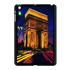 Paris Cityscapes Lights Multicolor France Apple Ipad Mini Case (black) by Onesevenart