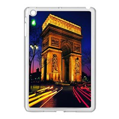 Paris Cityscapes Lights Multicolor France Apple Ipad Mini Case (white) by Onesevenart