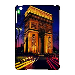 Paris Cityscapes Lights Multicolor France Apple Ipad Mini Hardshell Case (compatible With Smart Cover) by Onesevenart