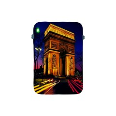 Paris Cityscapes Lights Multicolor France Apple Ipad Mini Protective Soft Cases by Onesevenart