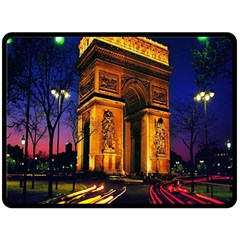 Paris Cityscapes Lights Multicolor France Double Sided Fleece Blanket (large)  by Onesevenart