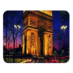 Paris Cityscapes Lights Multicolor France Double Sided Flano Blanket (large)  by Onesevenart
