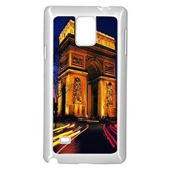 Paris Cityscapes Lights Multicolor France Samsung Galaxy Note 4 Case (white) by Onesevenart