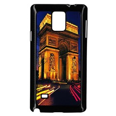 Paris Cityscapes Lights Multicolor France Samsung Galaxy Note 4 Case (black) by Onesevenart