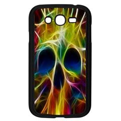Skulls Multicolor Fractalius Colors Colorful Samsung Galaxy Grand Duos I9082 Case (black) by Onesevenart