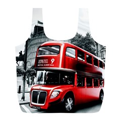 London Bus Full Print Recycle Bags (l)  by Onesevenart