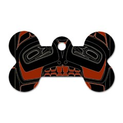 Traditional Northwest Coast Native Art Dog Tag Bone (two Sides) by Onesevenart