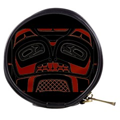 Traditional Northwest Coast Native Art Mini Makeup Bags by Onesevenart