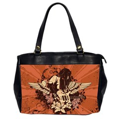 Rock Music Moves Me Office Handbags (2 Sides)  by Onesevenart