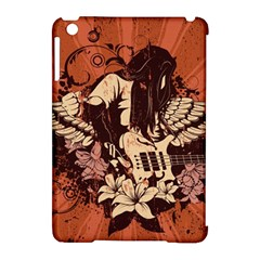 Rock Music Moves Me Apple Ipad Mini Hardshell Case (compatible With Smart Cover) by Onesevenart