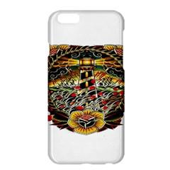 Tattoo Art Print Traditional Artwork Lighthouse Wave Apple Iphone 6 Plus/6s Plus Hardshell Case by Onesevenart