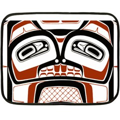 Traditional Northwest Coast Native Art Double Sided Fleece Blanket (mini)  by Onesevenart