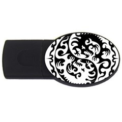 Ying Yang Tattoo Usb Flash Drive Oval (4 Gb) by Onesevenart