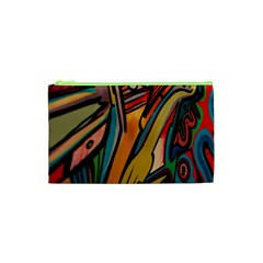 Vivid Colours Cosmetic Bag (xs) by Onesevenart