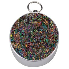 Trees Internet Multicolor Psychedelic Reddit Detailed Colors Silver Compasses by Onesevenart