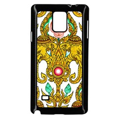 Traditional Thai Style Painting Samsung Galaxy Note 4 Case (black) by Onesevenart