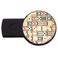 Old Domino Stones USB Flash Drive Round (4 GB) by Onesevenart