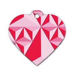 3d Pattern Experiments Dog Tag Heart (two Sides) by Onesevenart