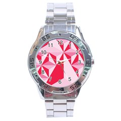 3d Pattern Experiments Stainless Steel Analogue Watch by Onesevenart