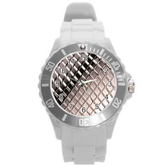 3d Abstract Pattern Round Plastic Sport Watch (L)