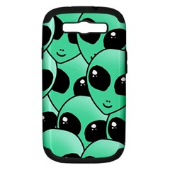 Alien Samsung Galaxy S Iii Hardshell Case (pc+silicone) by Onesevenart