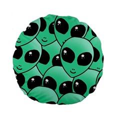 Alien Standard 15  Premium Flano Round Cushions
