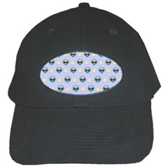 Alien Pattern Black Cap by Onesevenart