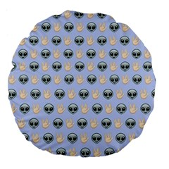 Alien Pattern Large 18  Premium Flano Round Cushions by Onesevenart
