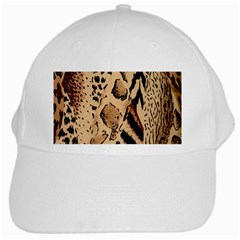 Animal Fabric Patterns White Cap by Onesevenart