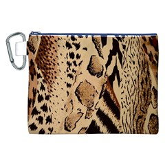 Animal Fabric Patterns Canvas Cosmetic Bag (xxl) by Onesevenart