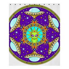 Alien Mandala Shower Curtain 60  X 72  (medium)  by Onesevenart